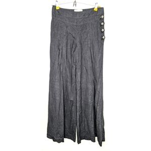 Elevenses Linen Blend Wide Leg Pants - O